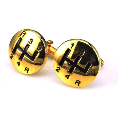 Manžetové knoflíčky řadící páka gold - 1