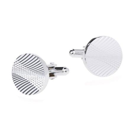 Manžetové knoflíčky kruhového tvaru - ražba - 1