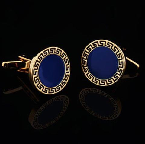Manžetové knoflíčky řecký znak modré - 1
