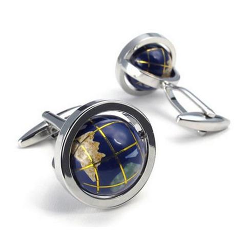 Manžetové knoflíčky rotující globus - 1