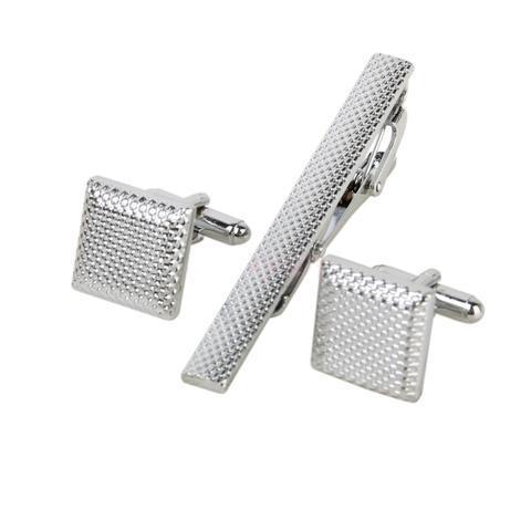 Ocelové manžetové knoflíčky s kravatovou sponou Colorado - 1