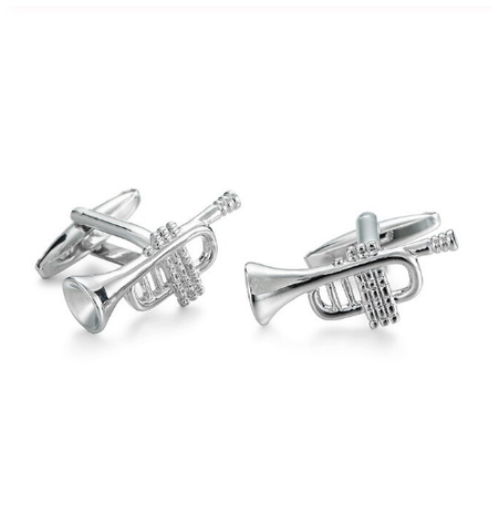 Manžetové knoflíčky jazzové trubky - 1