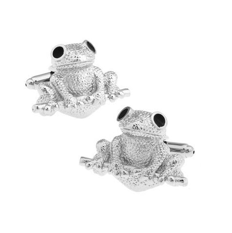 Manžetové knoflíčky žába - 1
