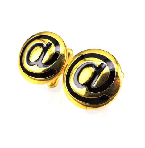 Manžetové knoflíčky zavináč zlatý - 1