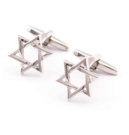 Manžetové knoflíčky židovská hvězda - 1