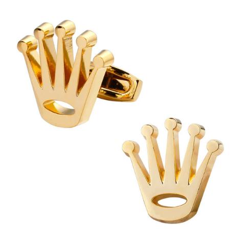 Manžetové knoflíčky zlatá korunka - 1