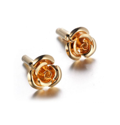 Manžetové knoflíčky zlatý květ - 1