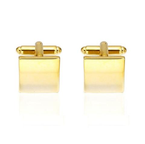 Manžetové knoflíčky zlaté čtverečky