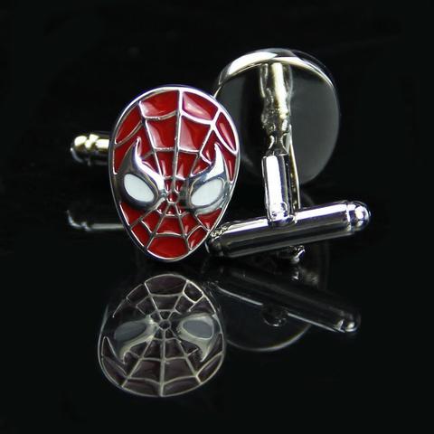 Manžetové knoflíčky Spiderman červený