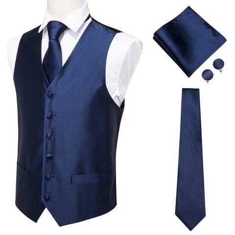 Modrá vesta k obleku s doplňky - 1