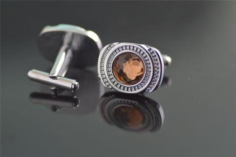Manžetové knoflíčky ocel s očkem