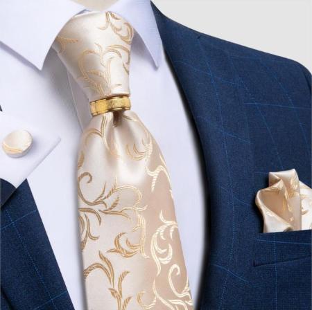 Manžetové knoflíčky s kravatou Hélios