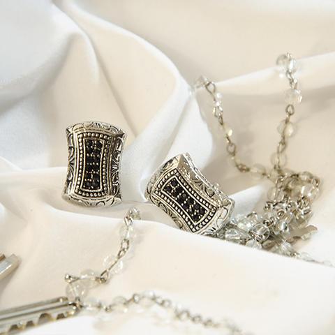 Manžetové knoflíčky stříbrná mozaika - 2