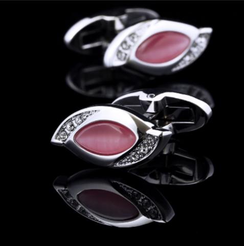 Manžetové knoflíčky Vintage pink - 2