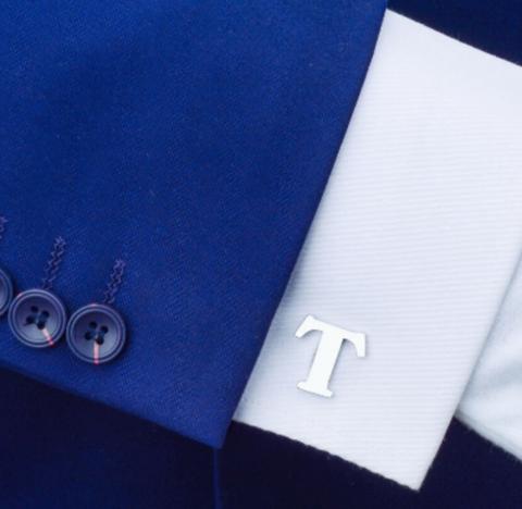 Manžetové knoflíčky písmeno T - 2