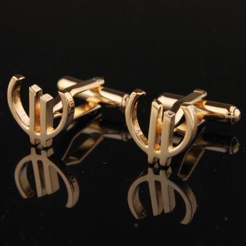 Manžetové knoflíčky Euro zlaté - 2