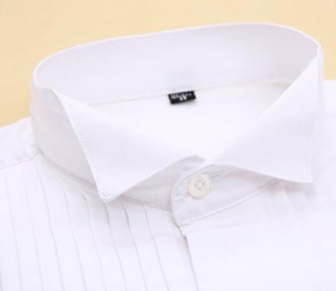 Bíla manžetová košile, velikost 43 - 2