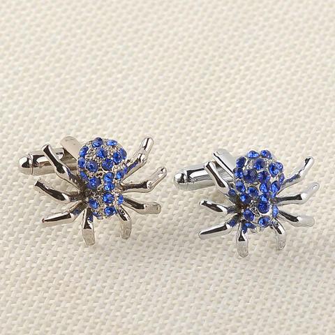 Manžetové knoflíčky modrý pavouček - 2