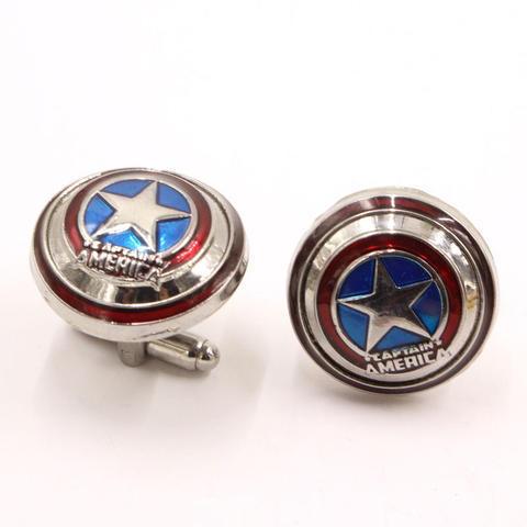 Manžetové knoflíčky Kapitán Amerika štít - 2