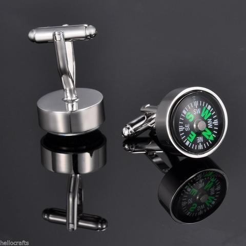 Manžetové knoflíčky pohyblivý kompas - 2