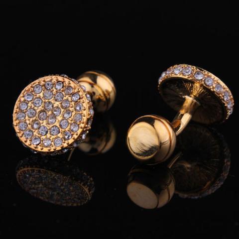 Manžetové knoflíčky posázené kamínky - 2