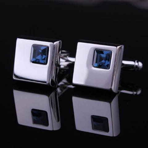Manžetové knoflíčky - tmavě modrý krystal - 2