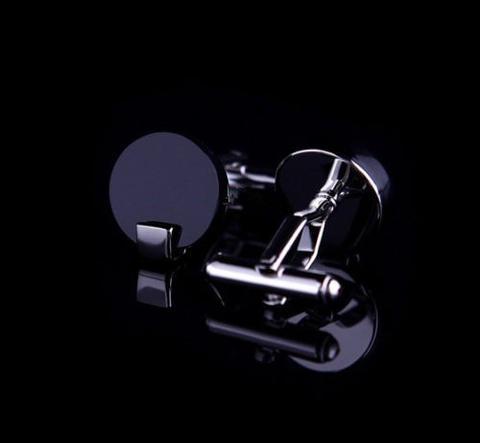 Manžetové knoflíčky černé kulaté - 2