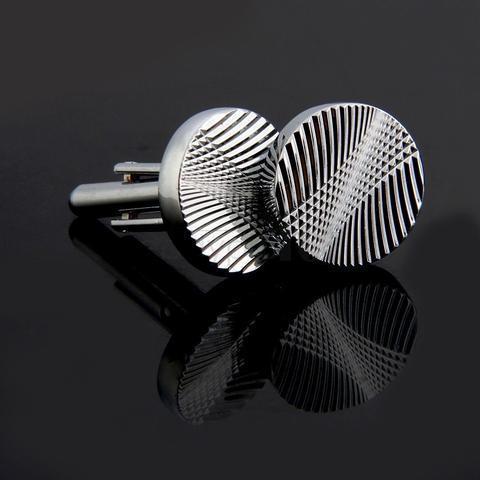 Manžetové knoflíčky kruhového tvaru - ražba - 2