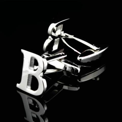 Manžetové knoflíčky písmeno P+B - 2