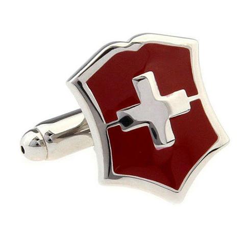 Manžetové knoflíčky Švýcarský znak - 2