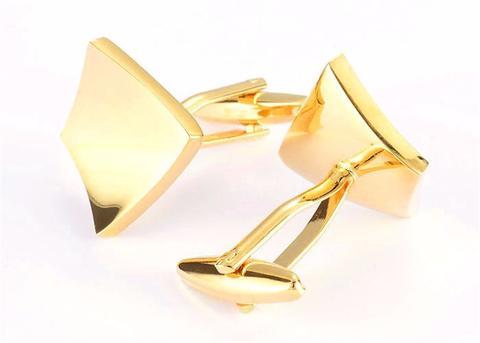 Manžetové knoflíčky vyduté gold - 2