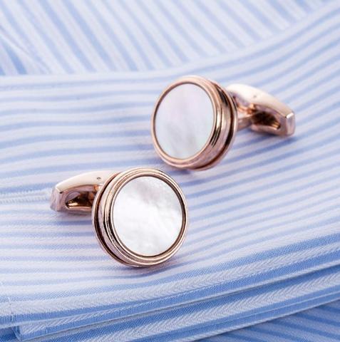 Manžetové knoflíčky perleť natur - 2