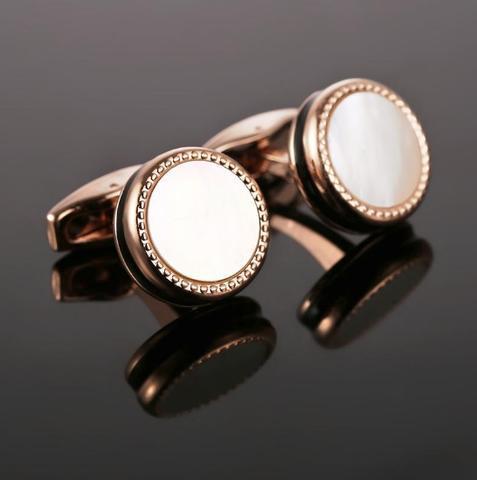 Manžetové knoflíčky perleť black - 2