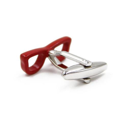 Manžetové knoflíčky červené brýle - 2