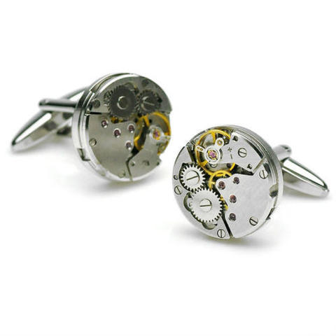 Manžetové knoflíčky hodinový strojek - 2