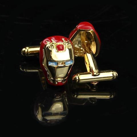Manžetové knoflíčky Iron Man gold - 2