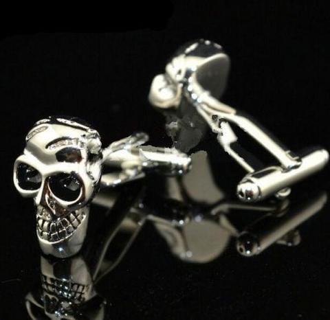 Manžetové knoflíčky lebka skeleton - 2