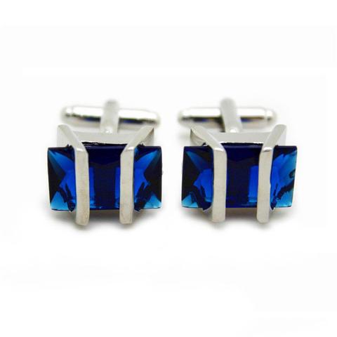 Manžetové knoflíčky Gemstone modrý - 2