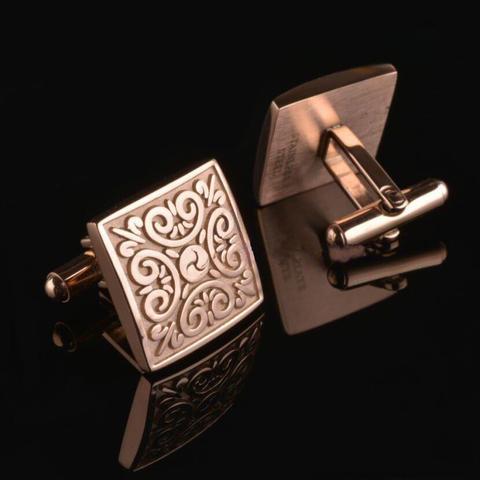 Manžetové knoflíčky ornament zlaté - 2