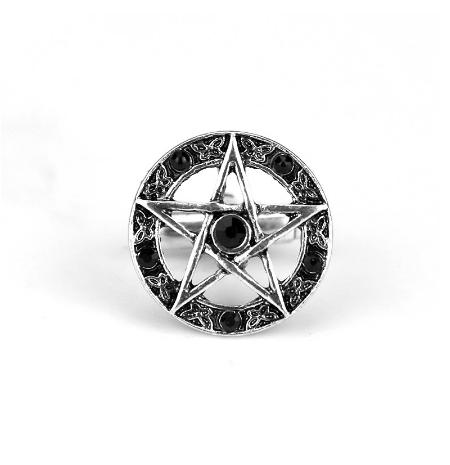 Manžetové knoflíčky pěticípá hvězda pentagram - 2