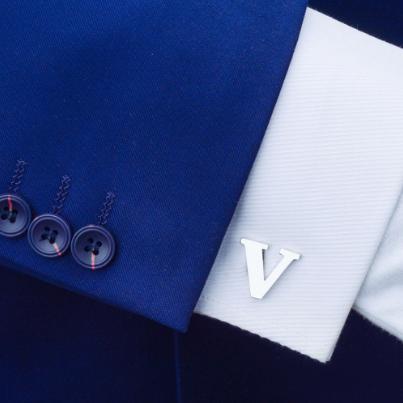 Manžetové knoflíčky písmeno V - 2