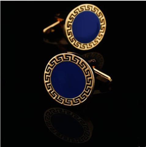 Manžetové knoflíčky řecký znak modré - 2