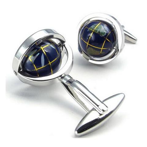 Manžetové knoflíčky rotující globus - 2