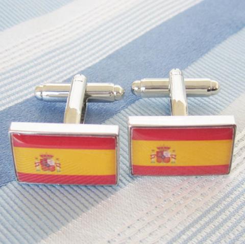 Manžetové knoflíčky Španělská vlajka - 2