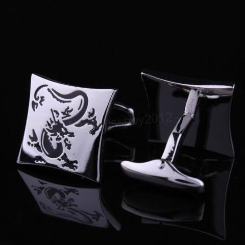 Manžetové knoflíčky drak silver - 2