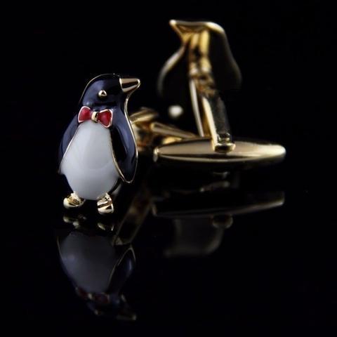 Manžetové knoflíčky tučňák s motýlkem - 2