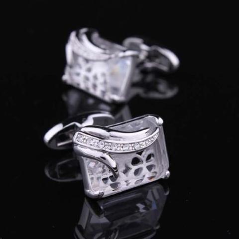 Manžetové knoflíčky průhledný krystal - 2