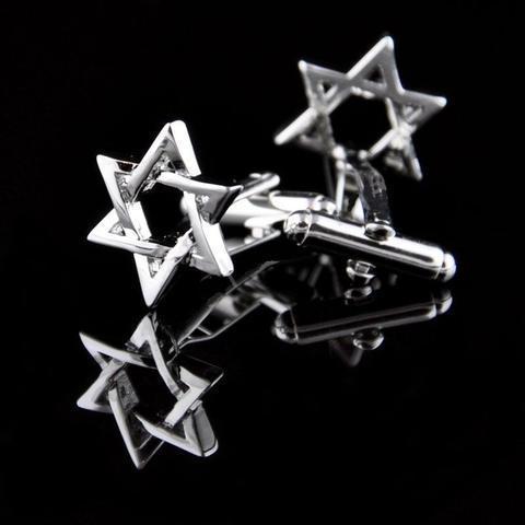 Manžetové knoflíčky židovská hvězda - 2
