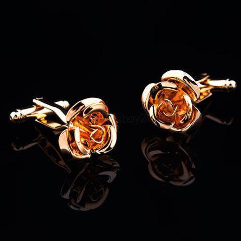 Manžetové knoflíčky zlatý květ - 2