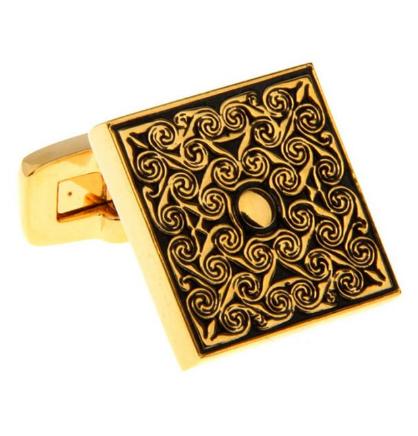 Manžetové knoflíčky luxusní zlatý ornament - 2